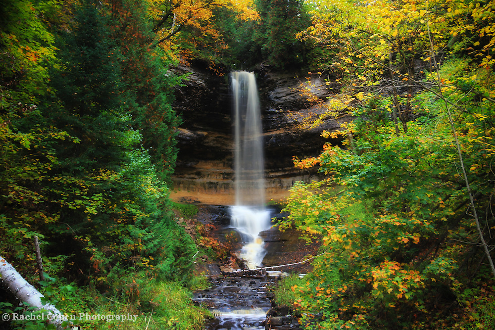 &quot;Munising Falls in October&quot;<br />