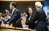 Nederland. Den Haag, 18 september 2008.<br /> Algemene beschouwingen in de tweede kamer.<br /> Halsema, Wilders en Rutte .oppositie.<br /> Foto Martijn Beekman<br /> NIET VOOR PUBLIKATIE IN LANDELIJKE DAGBLADEN.