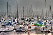 Early morning at Santa Barbara Harbor, California