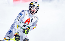 """29.01.2019, Planai, Schladming, AUT, FIS Weltcup Ski Alpin, Slalom, Herren, 2. Lauf, im Bild Manfred Moelgg (ITA) // Manfred Moelgg of Italy reacts after his 2nd run of men's Slalom """"the Nightrace"""" of FIS ski alpine world cup at the Planai in Schladming, Austria on 2019/01/29. EXPA Pictures © 2019, PhotoCredit: EXPA/ JFK"""