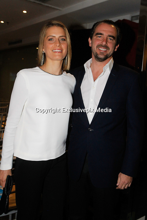 Prince Nikolaos of Greece with his wife Princess Tatiana attend a book presentation for charitable cause.<br /> &copy;Exclusivepix Media