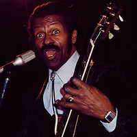 Chuck Berry performing on stage at Studio 54, New York NY