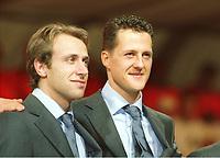 v.l. Luca BADOER, Michael SCHUMACHER<br />                                                Motorsport Formel 1   Ferrari