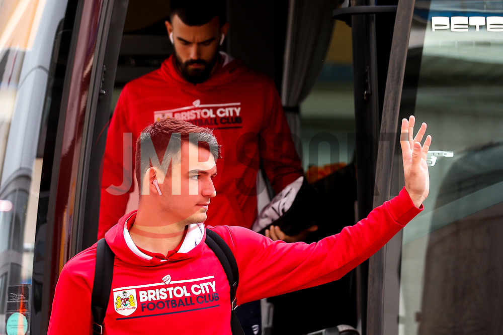 Max O'Leary of Bristol City arrives at Hull City - Mandatory by-line: Robbie Stephenson/JMP - 05/05/2019 - FOOTBALL - KCOM Stadium - Hull, England - Hull City v Bristol City - Sky Bet Championship
