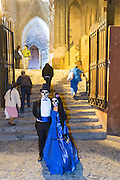 A couple dresses as the bride and groom of death pose outside the Parroquia de San Miguel Arcangel church during the Day of the Dead festival November 1, 2016 in San Miguel de Allende, Guanajuato, Mexico. The week-long celebration is a time when Mexicans welcome the dead back to earth for a visit and celebrate life.