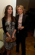 Tania Fares  and Sara Carello. An Evening in honour of Salvatore Ferragamo hosted by the Ambassador of Italy. The Italian Embassy, 4 Grosvenor Square. London W1. 8 June 2005. ONE TIME USE ONLY - DO NOT ARCHIVE  © Copyright Photograph by Dafydd Jones 66 Stockwell Park Rd. London SW9 0DA Tel 020 7733 0108 www.dafjones.com