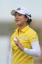 March 23, 2019 - Phoenix, AZ, U.S. - PHOENIX, AZ - MARCH 23: Sei Young Kim  on the 18th green after making her putt during the third round of the Bank of Hope LPGA Golf Tournament at the Wildfire Golf Club on March 23, 2019, at JW Marriott Phoenix Desert Ridge Resort & Spa in Phoenix, Arizona. (Photo by Will Powers/Icon Sportswire) (Credit Image: © Will Powers/Icon SMI via ZUMA Press)