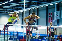 Friidrett<br /> NM Innendørs 06.03.2016<br /> Bærum Idrettspark<br /> Vladimir Vukicevic vinner 60m hekk<br /> Foto: Eirik Førde/ Digitalsport