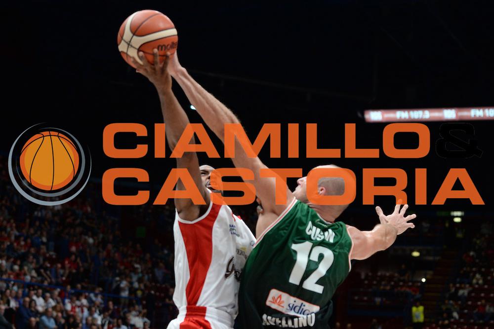Needham Derek, Cusin Marco<br /> Supercoppa Sidigas Scandone Avellino - Grissin Bon Reggio Emilia<br /> Basket serie A 2016/2017<br /> Milano 24/09/2016<br /> Foto Ciamillo-Castoria