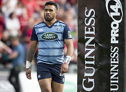 September 30, 2017 - Limerick, Ireland - Willis Halaholo of Cardiff during the Guinness PRO14 Conference A Round 5 match between Munster Rugby and Cardiff Blues at Thomond Park in Limerick, Ireland on September 30, 2017  (Credit Image: © Andrew Surma/NurPhoto via ZUMA Press)
