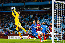 Gary Woods of Leyton Orient makes a save - Photo mandatory by-line: Rogan Thomson/JMP - 07966 386802 - 27/08/2014 - SPORT - FOOTBALL - Villa Park, Birmingham - Aston Villa v Leyton Orient - Capital One Cup Round 2.