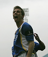 Photo: Lee Earle.<br /> Portsmouth v Middlesbrough. The Barclays Premiership. 15/04/2006. Pompey's Gary O'Neil celebrates his goal.