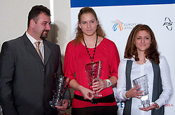 Vladimir Kevo, Barbara Spiler and Liona Rebernik at Best Slovenian athlete of the year ceremony, on November 15, 2008 in Hotel Lev, Ljubljana, Slovenia. (Photo by Vid Ponikvar / Sportida)