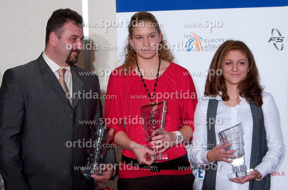 Vladimir Kevo, Barbara Spiler and Liona Rebernik at Best Slovenian athlete of the year ceremony, on November 15, 2008 in Hotel Lev, Ljubljana, Slovenia. (Photo by Vid Ponikvar / Sportida)