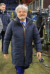 Italian Championship soccer 2017/2018 Sampdoria vs Lazio. 03 Dec 2017 Pictured: Massimo Ferrero President of UC Sampdoria walks on the pitch during the italian championship serie a match between UC Sampdoria and SS Lazio played at Luigi Ferraris stadium in Genoa, on December 03, 2017. Photo credit: Massimo Cebrelli / MEGA TheMegaAgency.com +1 888 505 6342