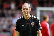 Sheffield United assistant manager Alan Knill during the Pre-Season Friendly match between Northampton Town and Sheffield United at the PTS Academy Stadium, Northampton, England on 20 July 2019.