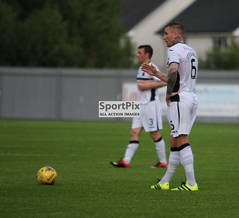 Ryan Stevenson has sights for goal  during the Dumbarton v East Fife Scottish League Cup group stage 19 July 2016<br /> <br /> (c) Andy Scott | SportPix.org.uk