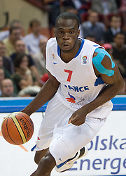 Alain Koffi of France during the EuroBasket 2009 Quaterfinals match between Spain and France, on September 17, 2009 in Arena Spodek, Katowice, Poland.  (Photo by Vid Ponikvar / Sportida)