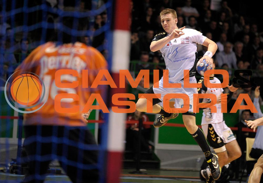 DESCRIZIONE : France Ligue Hand Coupe de la ligue Demi Finale Chambery Montpellier Nantes 13/03/2010<br /> GIOCATORE : Barachet Xavier<br /> SQUADRA : Chambery<br /> EVENTO : France Hand Coupe de La Ligue Chambery Montpellier<br /> GARA : Chambery Montpellier<br /> DATA : 13/03/2010<br /> CATEGORIA : Handball Coupe de La Ligue Demi Finale Homme Action Chambery<br /> SPORT : Handball<br /> AUTORE : JF Molliere par Agenzia Ciamillo-Castoria <br /> Galleria : France Hand Coupe de La Ligue Homme 2009/2010  <br /> Fotonotizia : France Ligue Hand Coupe de la ligue Demi Chambery Montpellier Nantes 13/03/2010<br /> Predefinita :