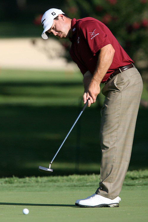 09 August 2007: Arron Oberholser attempts a birdie on the the 3rd green during the first round of the 89th PGA Championship at Southern Hills Country Club in Tulsa, OK.
