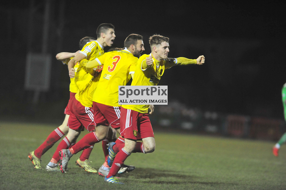 Bring on the Celtic, Calum Ferguson of Rovers celebrates scoring the winning goal against Queens ......(c) BILLY WHITE | SportPix.org.uk