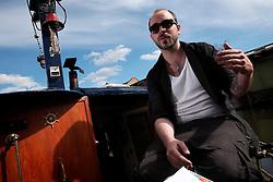 UK ENGLAND LONDON 30APR16 - London Canal boat resident Duncan Stevens on his boat, the 'Gremlin' near Haggerston, east London.<br /> <br /> <br /> <br /> jre/Photo by Jiri Rezac<br /> <br /> <br /> <br /> © Jiri Rezac 2016