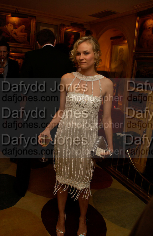 Diane Kruger. Artists Independent Networks  Pre-BAFTA Party at Annabel's co hosted by Charles Finch and Chanel. Berkeley Sq. London. 11 February 2005. . ONE TIME USE ONLY - DO NOT ARCHIVE  © Copyright Photograph by Dafydd Jones 66 Stockwell Park Rd. London SW9 0DA Tel 020 7733 0108 www.dafjones.com