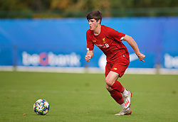 GENK, BELGIUM - Wednesday, October 23, 2019: Liverpool's Layton Stewart during the UEFA Youth League Group E match between KRC Genk Under-19's and Liverpool FC Under-19's at the KRC Genk Arena Stadium B. (Pic by David Rawcliffe/Propaganda)
