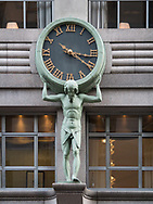 Tiffany clock on Fifth Avenue