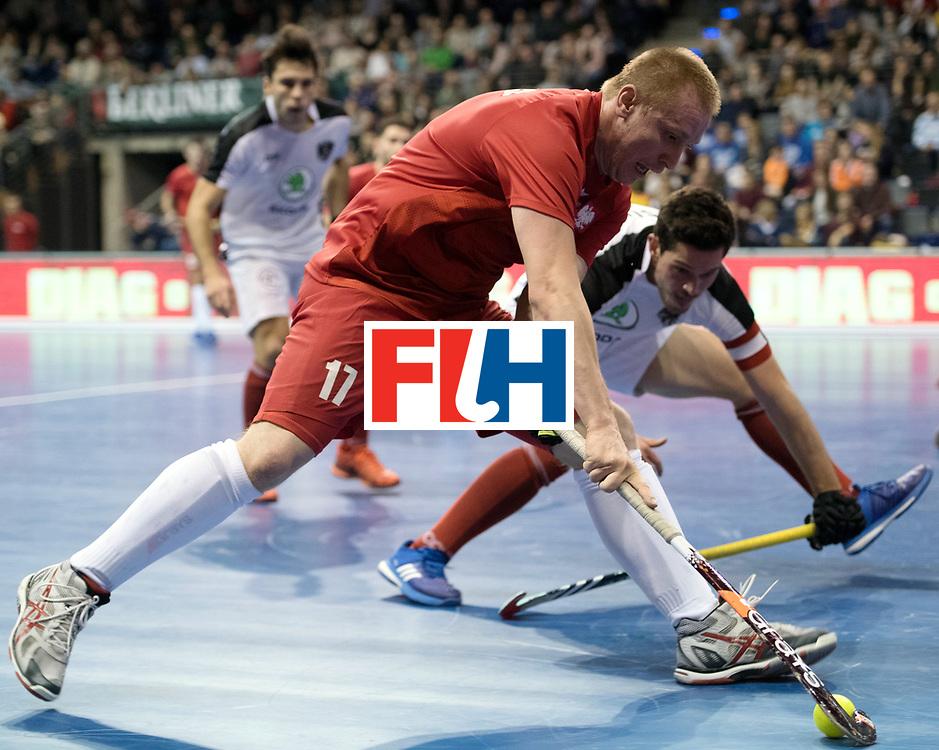 BERLIN - Indoor Hockey World Cup<br /> Quarterfinal 2: Austria - Poland<br /> foto: Krystian Makowski <br /> WORLDSPORTPICS COPYRIGHT FRANK UIJLENBROEK