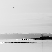 Lighthouse at Tagus river, near Montijo.