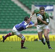 24/05/2002 (Friday).Sport -Rugby Union - London Sevens.South Africa vs France.Dale Heitmann[Mandatory Credit, Peter Spurier/ Intersport Images].