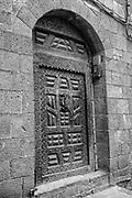 Yemen.<br />Ornate and grand house door.  Sana'<br />2007