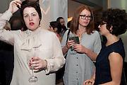 HANNAH ROBINSON; VICTORIA BROOKS; SILVIA SGUALDINI, The Jarman award 2011. Whitechapel Gallery. London. 3 October 2011. <br /> <br />  , -DO NOT ARCHIVE-© Copyright Photograph by Dafydd Jones. 248 Clapham Rd. London SW9 0PZ. Tel 0207 820 0771. www.dafjones.com.