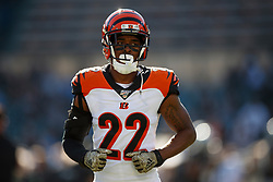 OAKLAND, CA - NOVEMBER 17: Cornerback William Jackson #22 of the Cincinnati Bengals warms up before the game against the Oakland Raiders at RingCentral Coliseum on November 17, 2019 in Oakland, California. The Oakland Raiders defeated the Cincinnati Bengals 17-10. (Photo by Jason O. Watson/Getty Images) *** Local Caption *** William Jackson