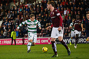 Celtic FC Midfielder Kris Commons on the attack during the Scottish League Cup presented by Ulilita Energy quarter final match between Heart of Midlothian and Celtic at Tynecastle Stadium, Gorgie, Scotland on 28 October 2015. Photo by Craig McAllister.