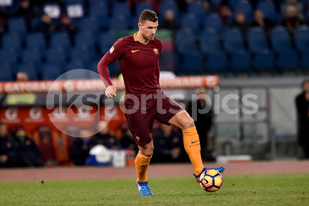Edin Dzeko of AS Roma during the Serie A match between Roma and Torino at Stadio Olimpico, Rome, Italy on 19 February 2017. Photo by Giuseppe Maffia.