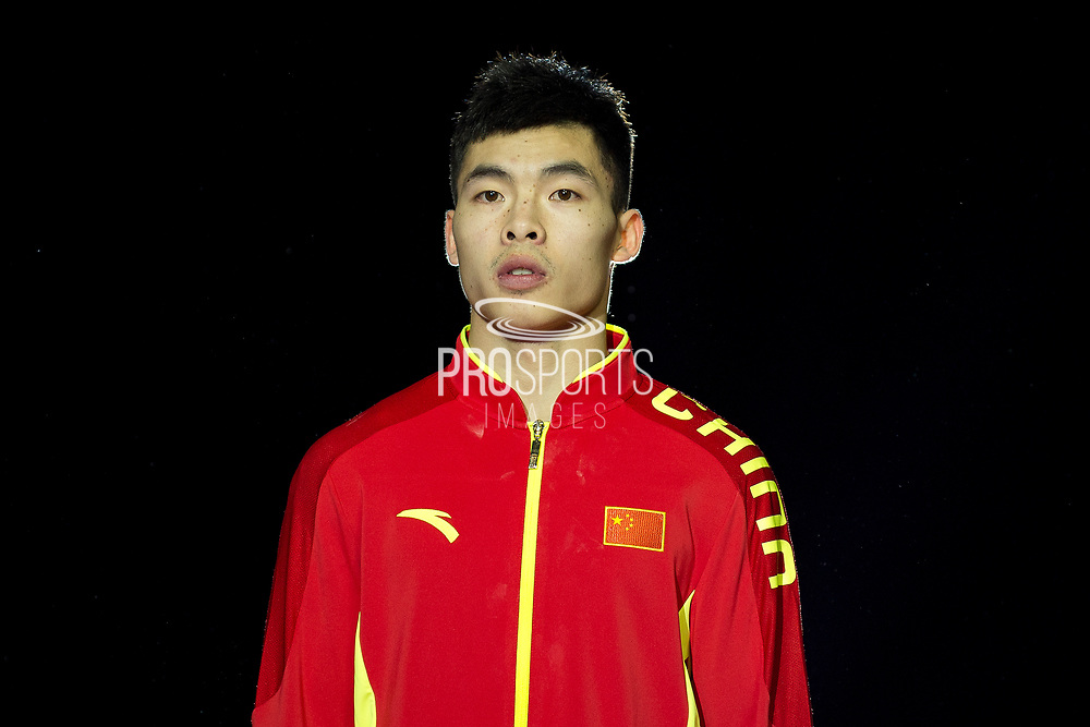 Jianlin Luo of China (CHN) during the iPro Sport World Cup of Gymnastics 2017 at the O2 Arena, London, United Kingdom on 8 April 2017. Photo by Martin Cole.
