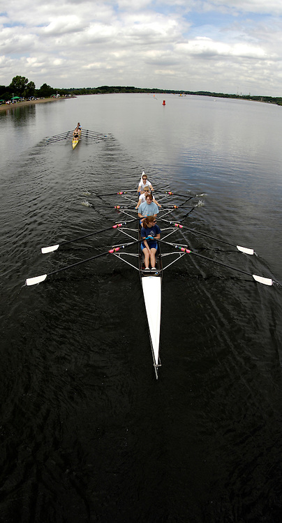 2006, National Rowing Championships,  GV's from the Causeway Bridge across Strathclyde Country Park,  Motherwell, SCOTLAND.  Friday, 14.07.2006.  Photo  Peter Spurrier/Intersport Images email images@intersport-images.com. Rowing Course, Strathclyde Country Park,  Motherwell, SCOTLAND.