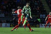 Dannie Bulman of AFC Wimbledon during Sky Bet League 2 match between Leyton Orient and AFC Wimbledon at the Matchroom Stadium, London, England on 28 November 2015. Photo by Stuart Butcher.