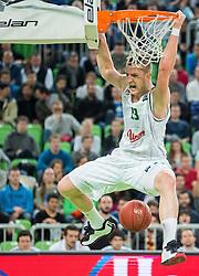 Alen Omic #23 of KK Union Olimpija during basketball match between KK Union Olimpija (SLO) and Besiktas Istanbul (TUR) in 6th Round of EuroCup 2014/15, on November 19, 2014 in Arena Stozice, Ljubljana, Slovenia. Photo by Vid Ponikvar / Sportida