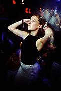Girl dancing at a rave, Hanover Grand. 10th July, 1997.