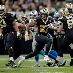 Dec 30, 2018; New Orleans, LA, USA; New Orleans Saints running back Dwayne Washington (27) against the Carolina Panthers during the second half at the Mercedes-Benz Superdome. Mandatory Credit: Derick E. Hingle-USA TODAY Sports