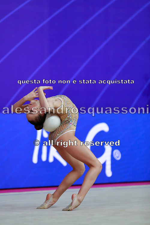 Lozic Suncica during the qualification of the ball at the Pesaro World Cup 2018.<br /> She is a gymnast from Croatia born in Split in 2002.