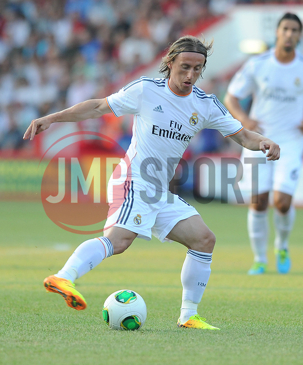 Real Madrid's Luka Modric - Photo mandatory by-line: Alex James/JMP  - Tel: Mobile:07966 386802 20/07/2013 -Bournemouth vs Real Madrid  - SPORT - FOOTBALL -  Dean Court-Bournemouth - Real Madrid -