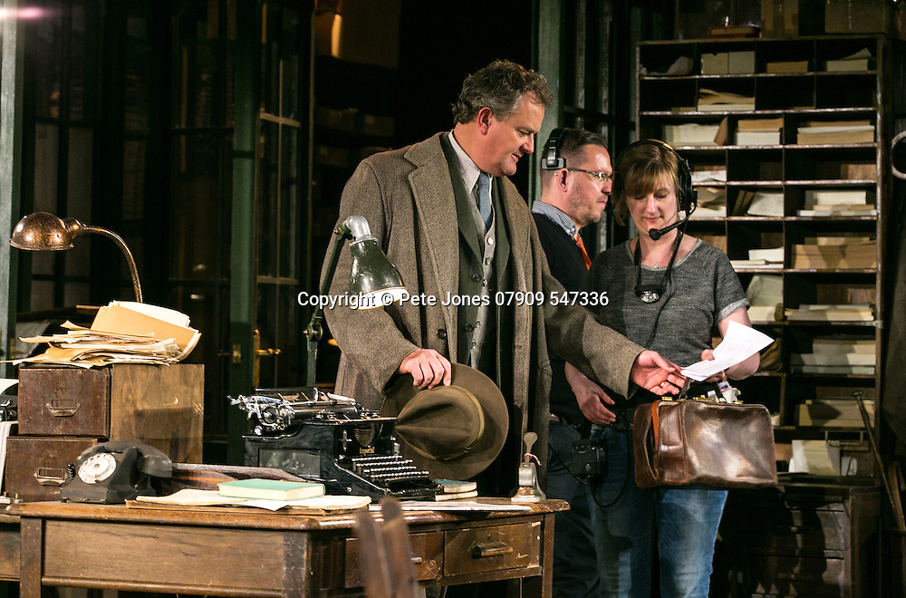 An Enemy of the People by Henrik Ibsen;<br /> Directed by Howard Davies;<br /> Hugh Bonneville as Dr Tomas Stockmann;<br /> Stagehand, asm's, AD's;<br /> Chichester Festival Theatre, Chichester, UK;<br /> 29 April 2016