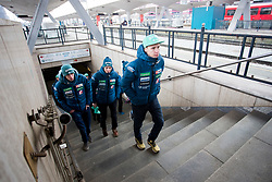 Cene Prevc prior to the driving of Slovenian National Ski jumping Team from Ljubljana by train to the FIS World Cup Ski Jumping Final Planica 2018, on March 21, 2018 in Ljubljana, Slovenia. Photo by Urban Urbanc / Sportida