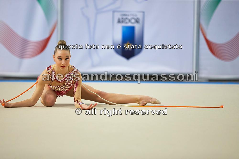 Corinda Caputo from Iris team during the Italian Rhythmic Gymnastics Championship in Padova, 25 November 2017.