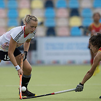 MONCHENGLADBACH - Junior World Cup<br /> Pool D: Germany - Spain<br /> photo: Marilena Krauss (white) and Marider Altuna (red).<br /> COPYRIGHT  FFU PRESS AGENCY/ FRANK UIJLENBROEK