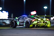 January 24-27, 2019. IMSA Weathertech Series ROLEX Daytona 24. #44 Magnus Racing Lamborghini Huracan GT3, GTD: John Potter, Andy Lally, Spencer Pumpelly, Marco Mapelli